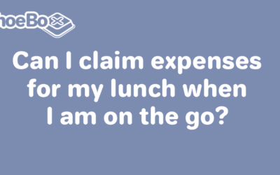 Can I claim expenses for my lunch when I am on the go?